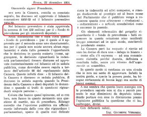 Quando la Camera introdusse i vitalizi nel 1954 il Deputato Trentino Veronesi firmò le dimissioni per protesta: ecco la sua lettera