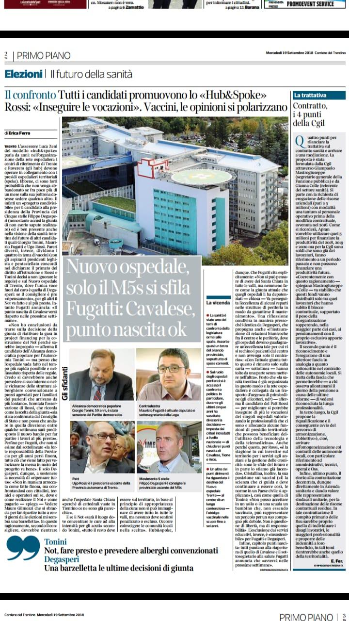 Su riforma sanitaria e ospedali periferici gli avversari inseguono il M5S