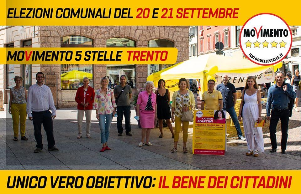 Candidati di lista M5S Elezioni Comunali di Trento 2020