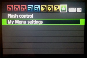 My Menu Settings