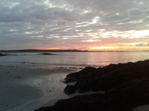 Sunset over Traigh Chornaig