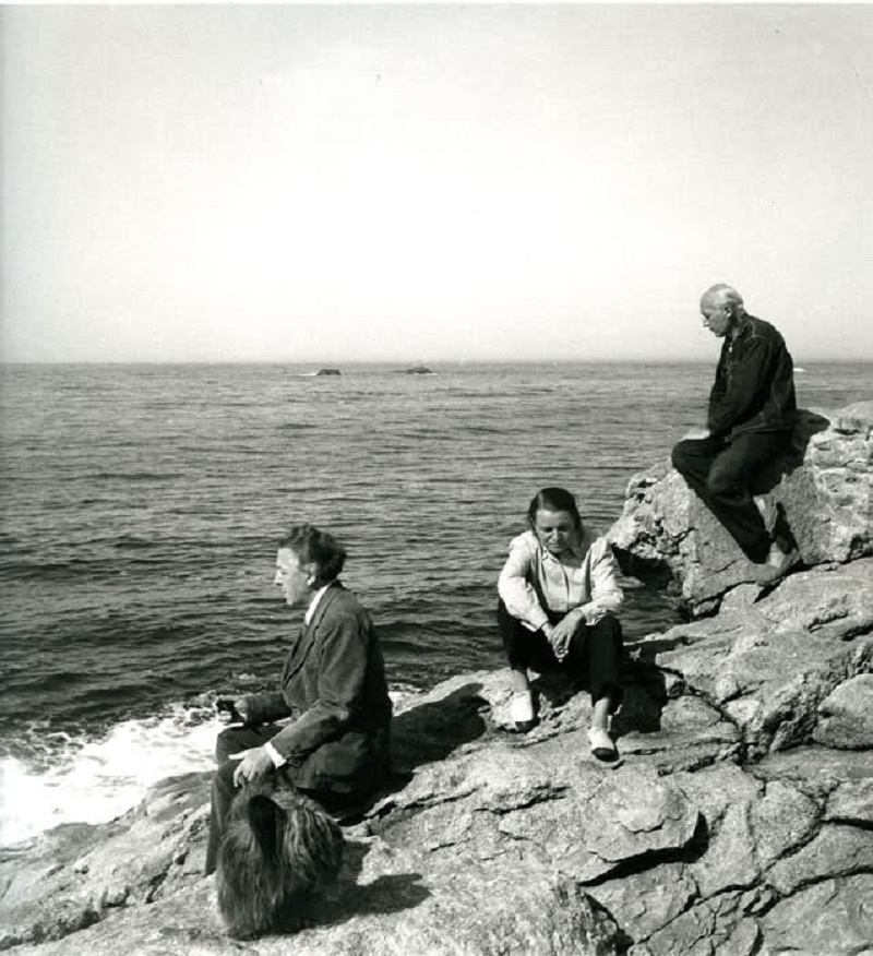 c. 1947, André Breton, Toyen and Benjamin Péret by Elisa Breton.