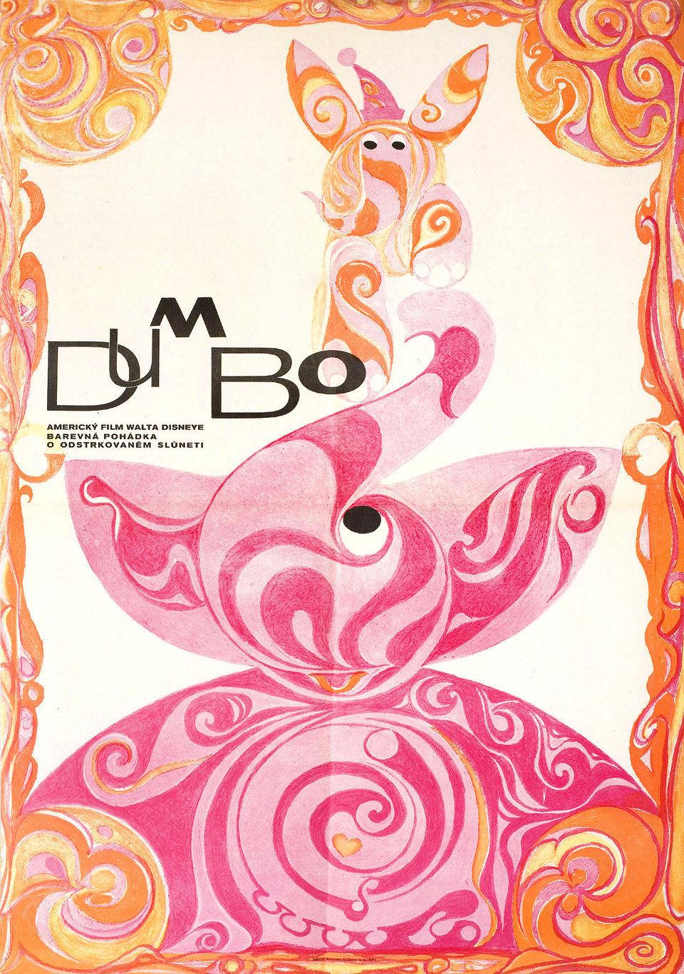 dumbo-1960s-original-czech-republic-movie-poster
