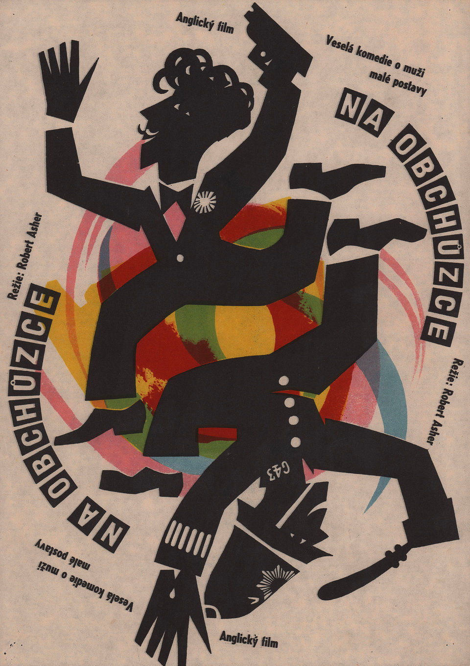 on-the-beat-1963-original-czech-movie-poster
