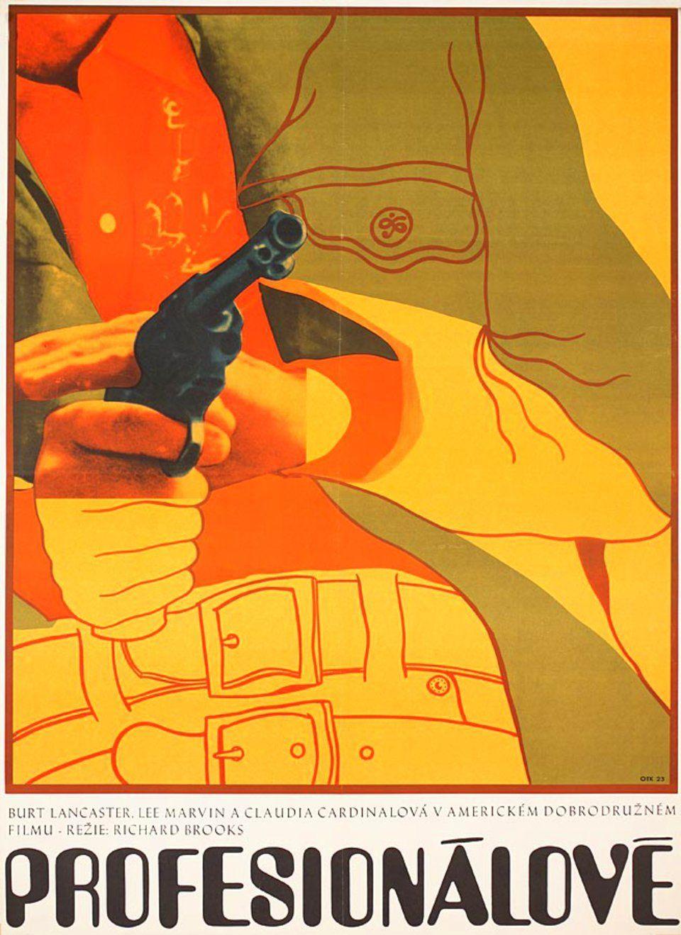 the-professionals-1963-original-czech-moviel-poster