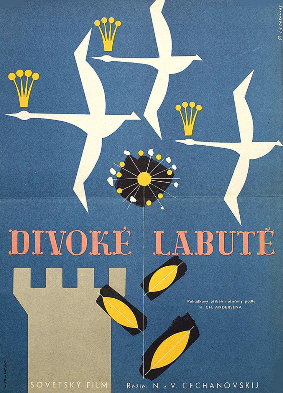 the-wild-swans-1963-original-czech-movie-poster
