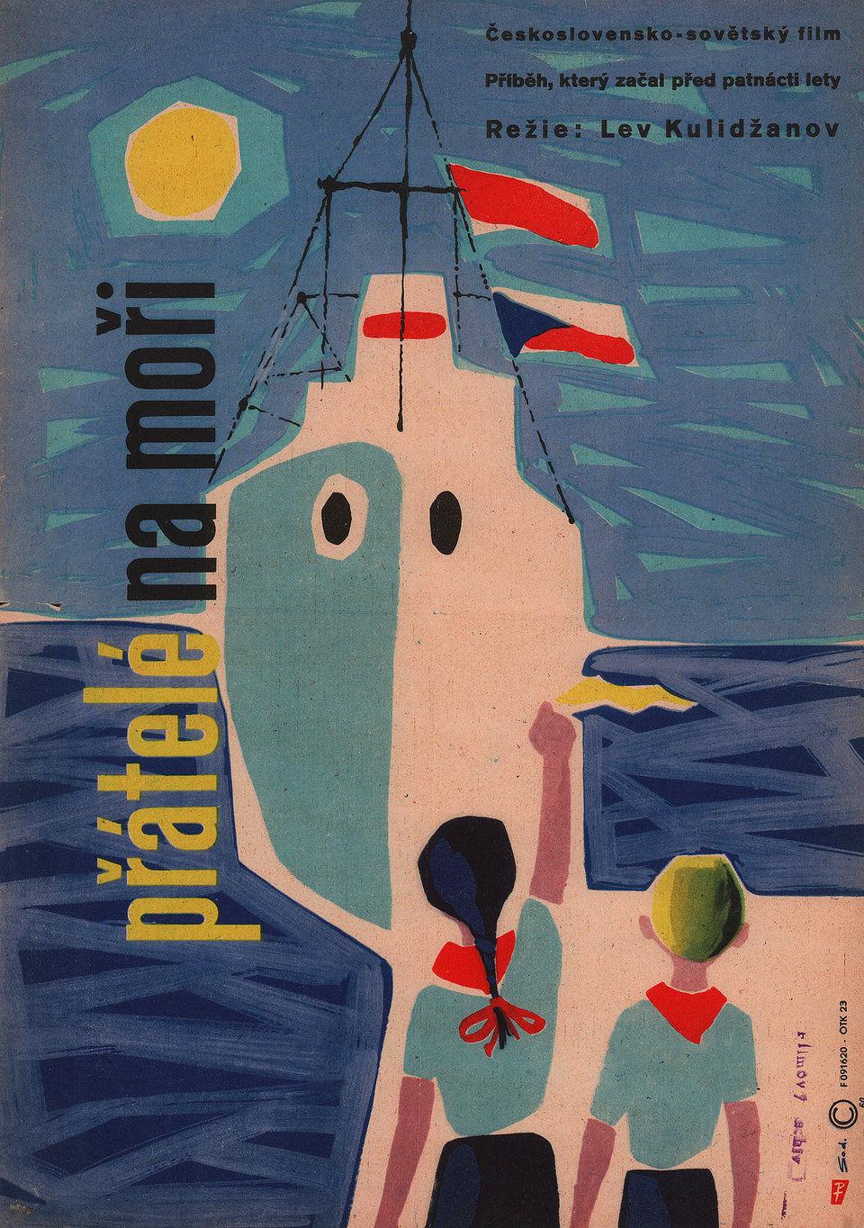pratele-na-mori-1960-original-czech-republic-movie-poster