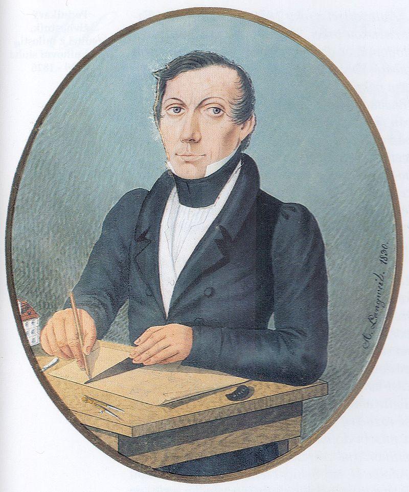 Self-portrait of Antonín Langweil, 1830