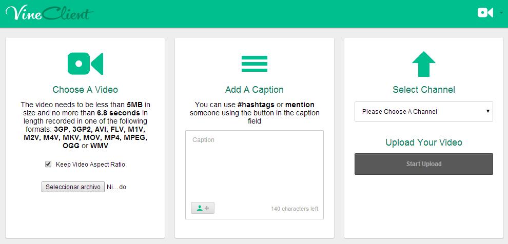 Vine_Client_Screenshot