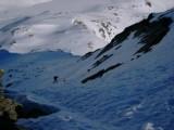 Gli ultimi tratti di salita che portano alla cima sono da fare a piedi.