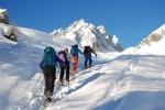 Presso le Malghe Varicla 1606 m con il Pizzo Camino 2491 m.