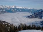 Altra foto che ritrae le nuvole basse sulla Valtellina.