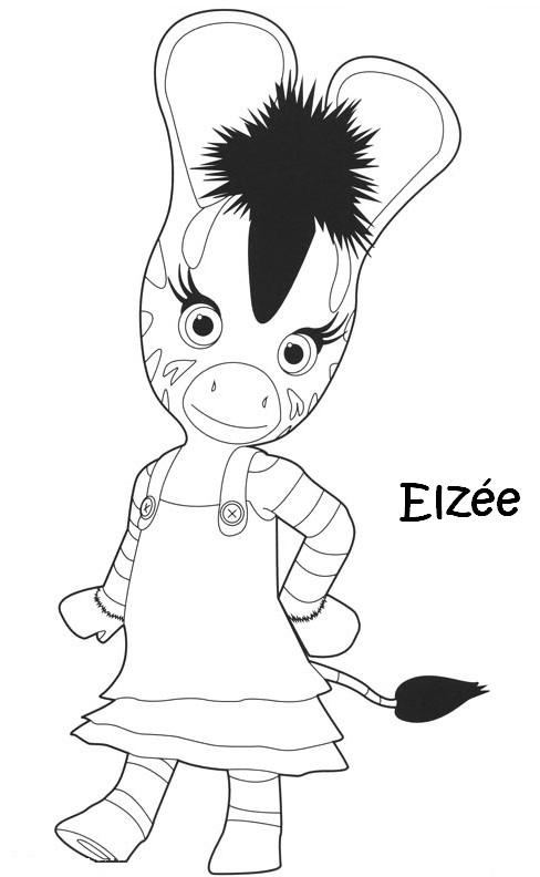 Dessin Anime Zebre Zou On Log Wall