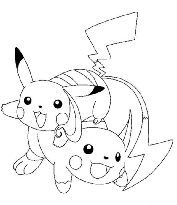 Pokemon Pichu Coloring Pages Pichu Coloring Pages For Kids Gnx