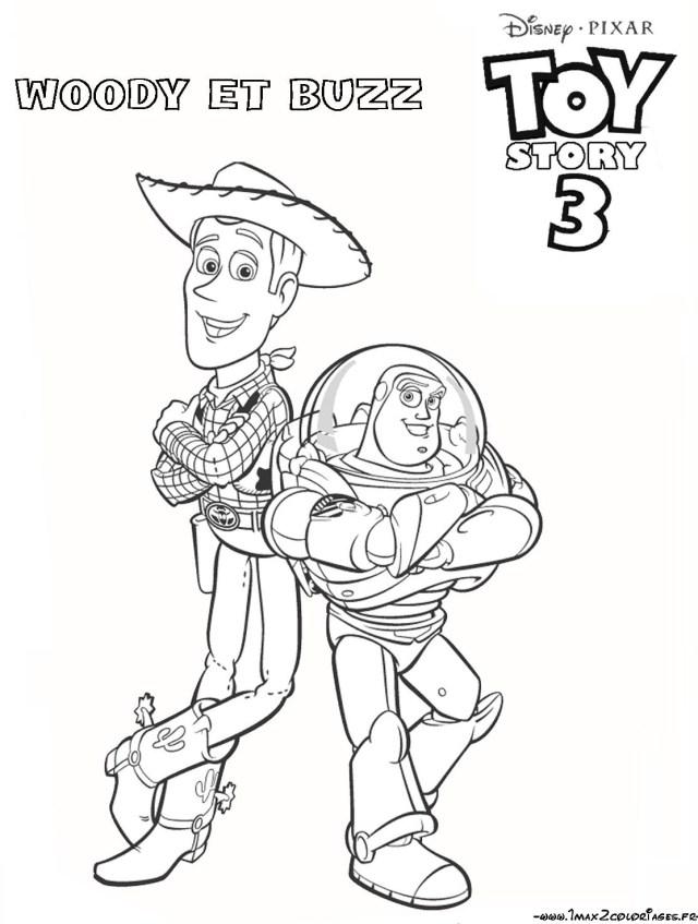 Coloriage a imprimer toy story 30 woody et buzz gratuit et colorier