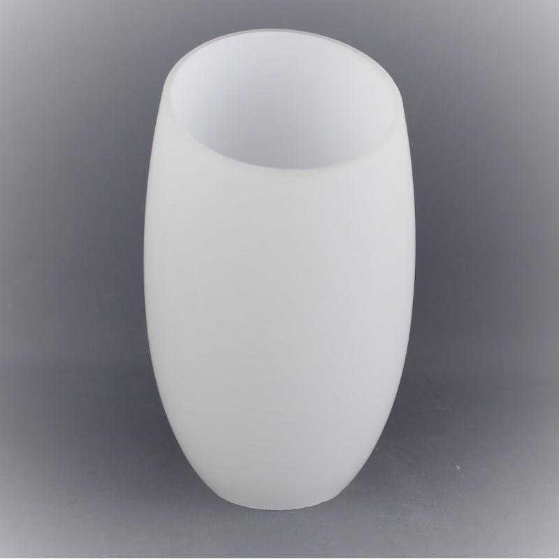 abat jour tulipe verre blanc pour lustre annees 60