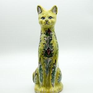 Statue Chat en céramique H 35
