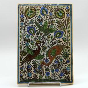 Carreau emaille, peint a la main en ceramique CS14