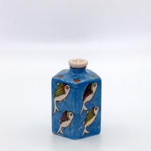 Potiche artisanale au motif poisson en céramique VD04 d'origine iranien