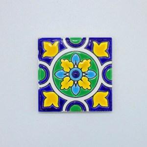 Carreau Aimant / Magnet Carré Motif Traditionnel en céramique CD67 fabriqué en iran
