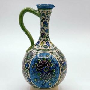 Carafe / Pichet artisanal Emaillé, peint à la main en céramique VS05