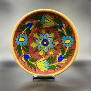 Assiette Artisanale Fait main Handmade Iranien Iran Persian Argile Céramique