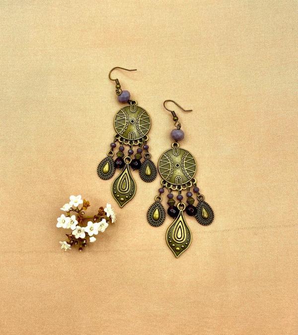Boucles d'oreilles artisanales
