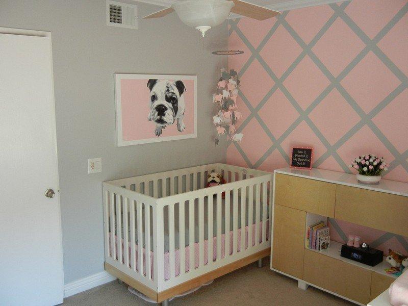 peinture bois de rose chambre