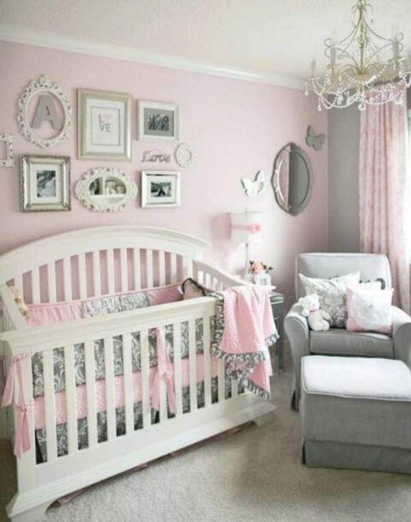 Deco Chambre Fille Rose Gris Blanc   Unixpaint