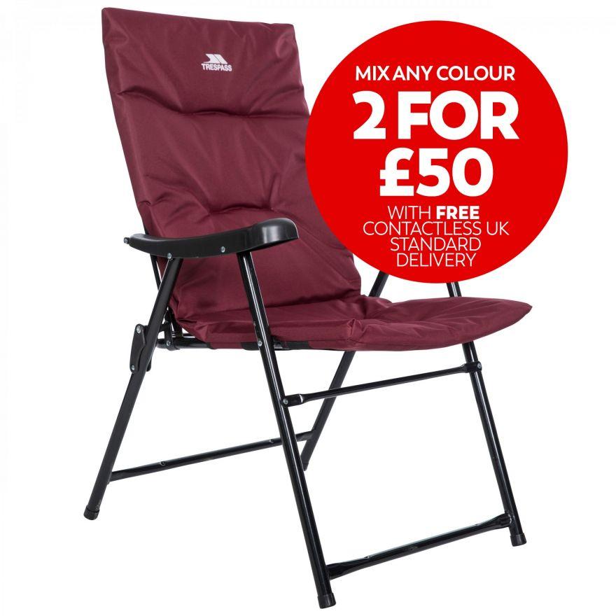 Paddy Folding Padded Deck Chair Trespass