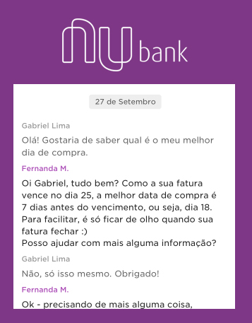 NuBank estilo de comunicação
