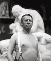 GUSTAV VIGELAND IN THE STUDIO AT HAMMERSBORG. 28 MAY 1917