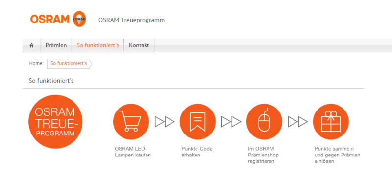 OSRAM Treueprogramm So funktioniert s