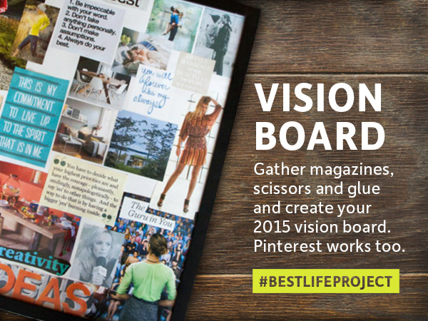 Best Life Project - #BestLifeProject - Make a Vision Board - Recharge Relax Challenge on Instagram