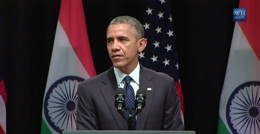 President Obama discusses the U.S. commitment to build 'smart cities' in India via YouTube [WhiteHouse.gov] Screenshot