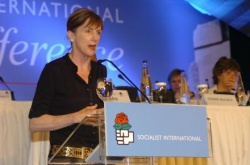 Carol Browner, Socialist international