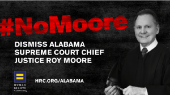 Human Rights Campaign targets Alabama Supreme Court Justice Roy Moore via HRC