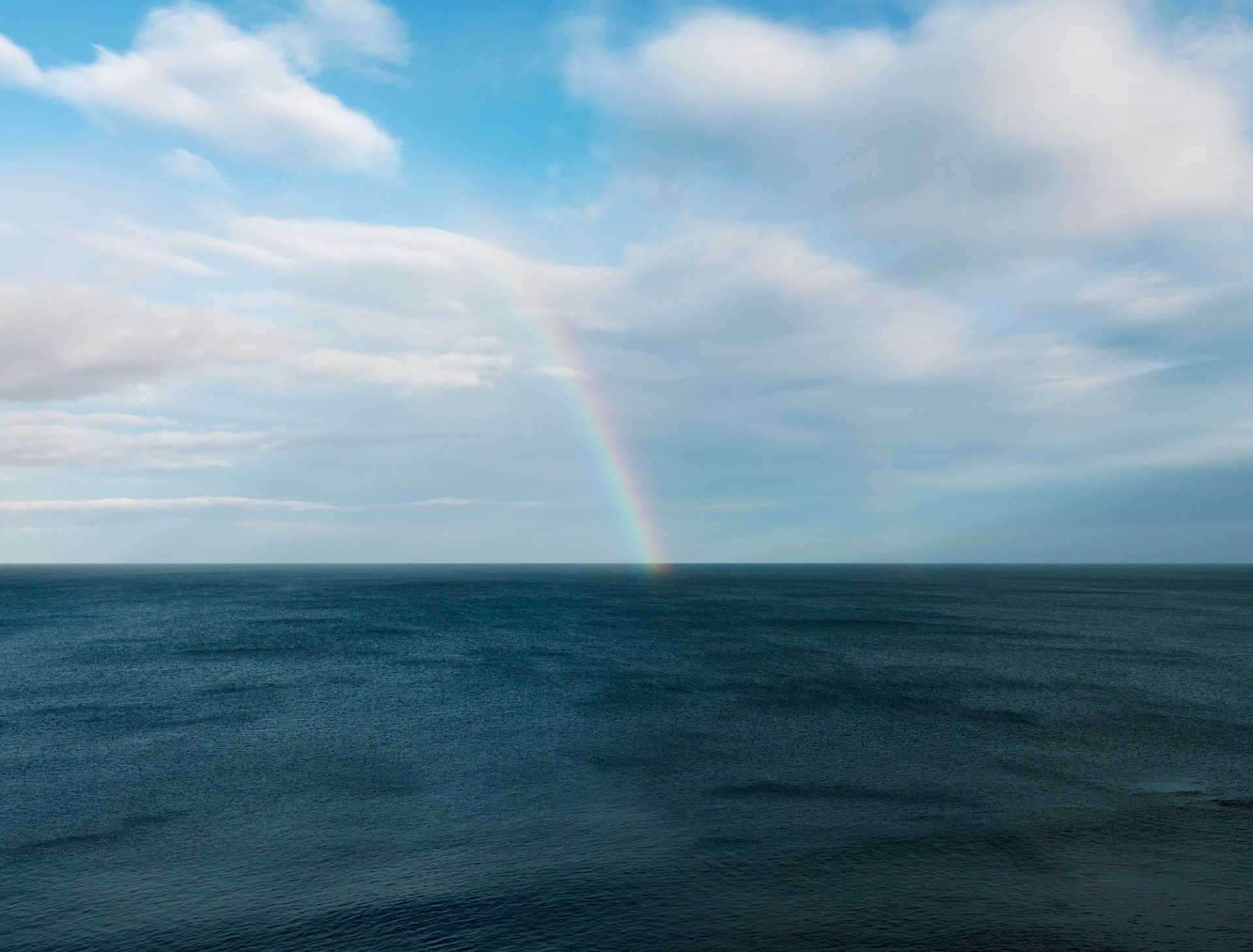 Rainbow from Needles Eye Northumberland 2017