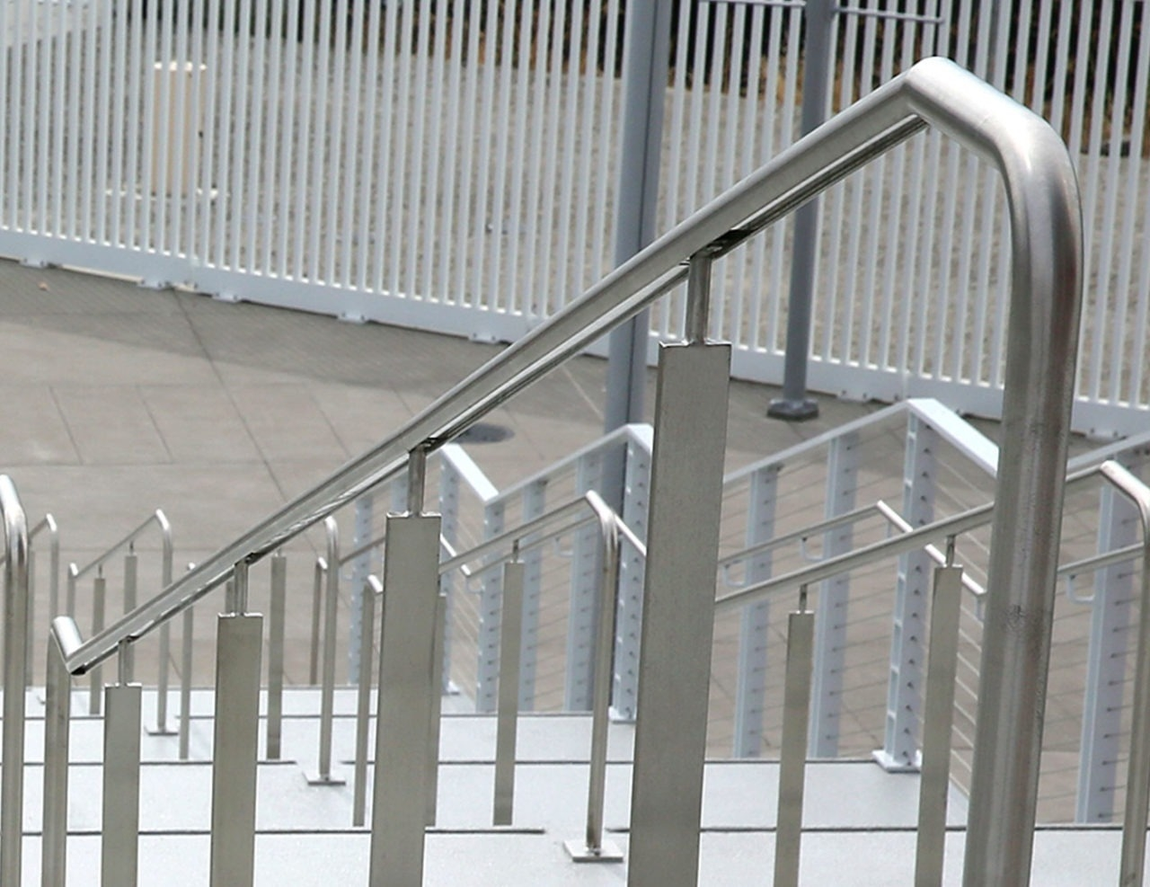 Griprail Commercial Metal Handrails Trex Commercial Products   Aluminum Steps With Handrail   Boat Dock   Wheelchair Ramp   Stair Treads   Folding   Stair System