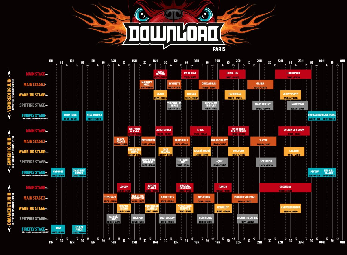 DOWNLOAD 2017 : Le Running Order disponible !