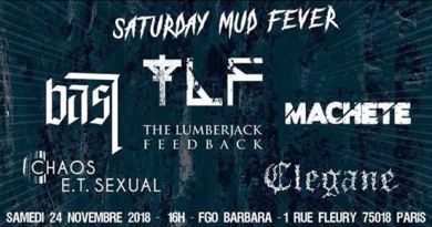 SATURDAY MUD FEVER le 24 novembre prochain à Paris
