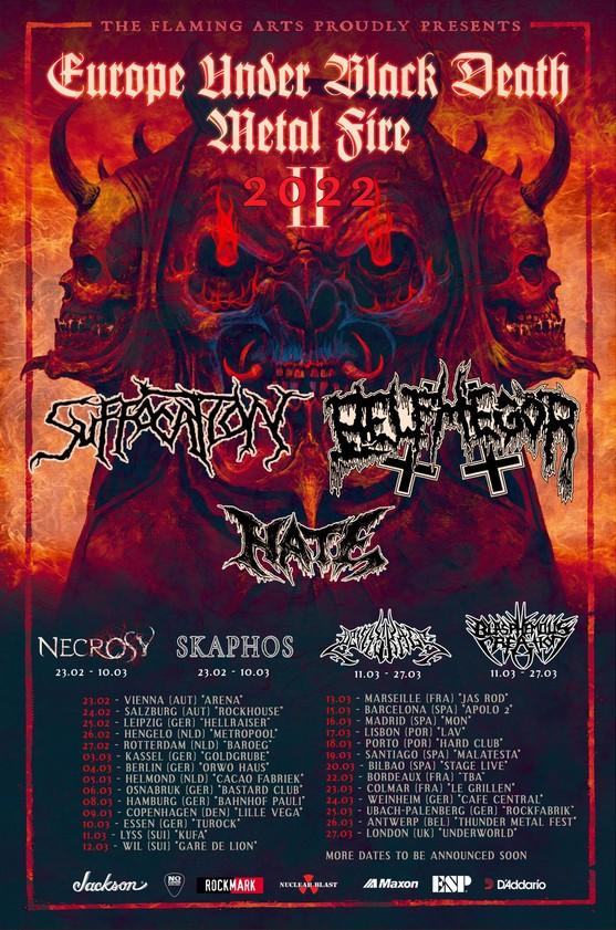 Une nouvelle tournée pour Suffocation et Belphegor avec plusieurs dates en France