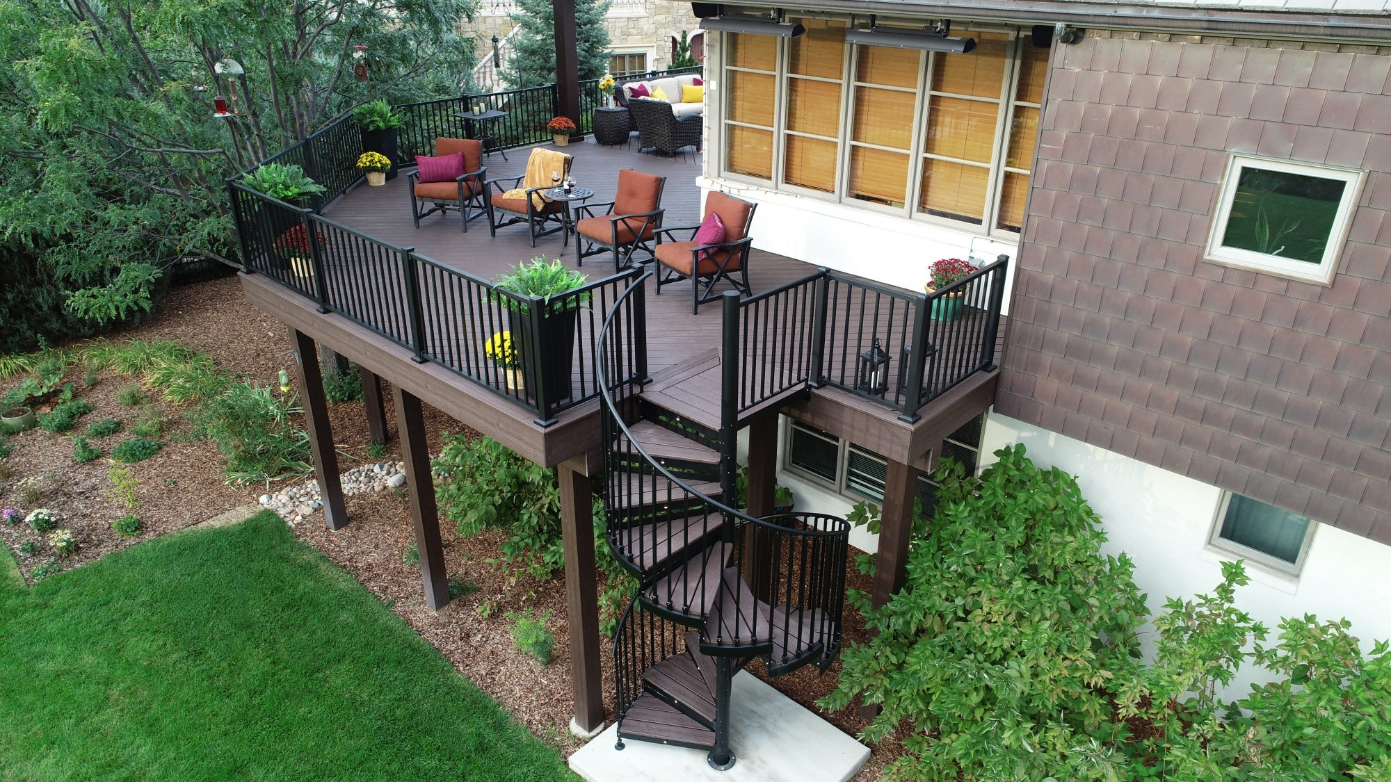 Discover The Ultimate Staircase Alternative Trex Spiral Stairs | Outdoor Spiral Staircase For Deck | Farmhouse | Basement | Multi Level | 2Nd Floor | Steel