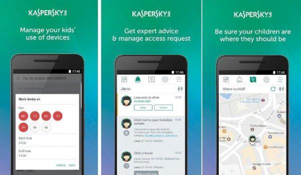 Kaspersky Safe Kids interface Antivirusni programi