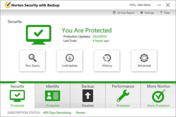 Norton Security interface Antivirusni programi