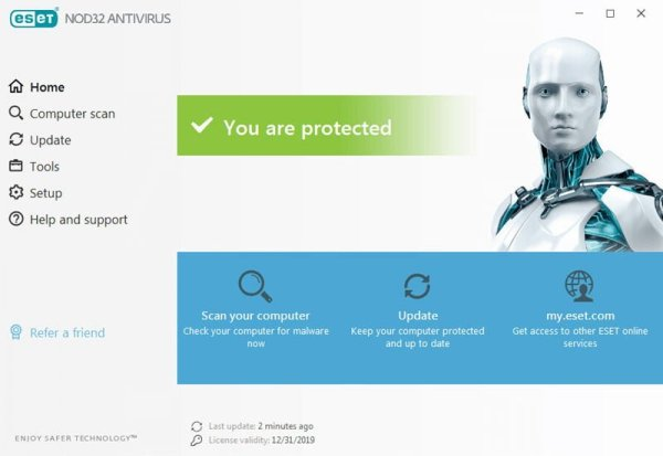 eset nod32 antivirus interface Antivirusni programi