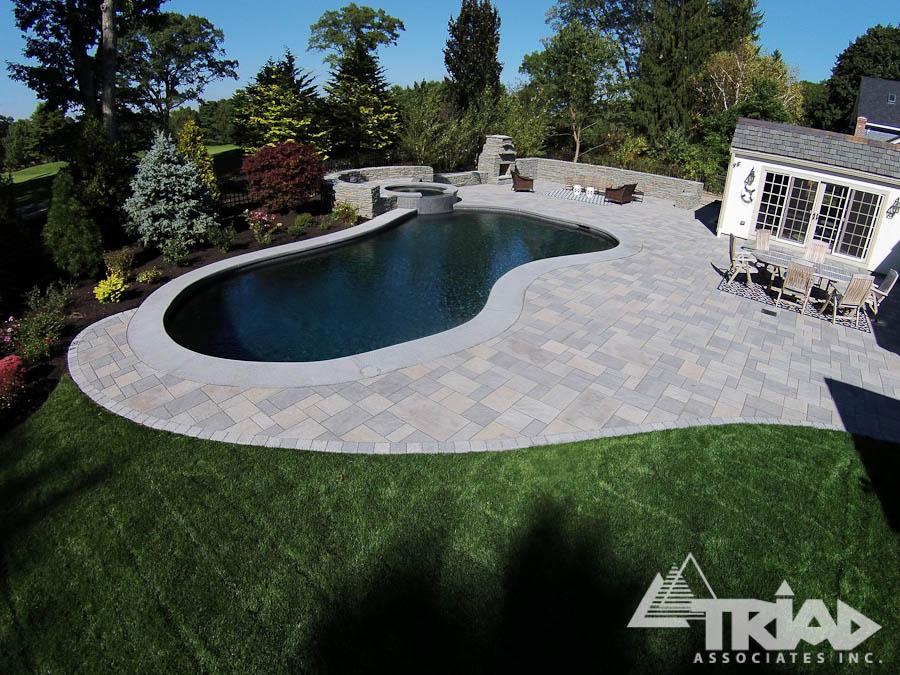 beautiful swimming pool patios triad