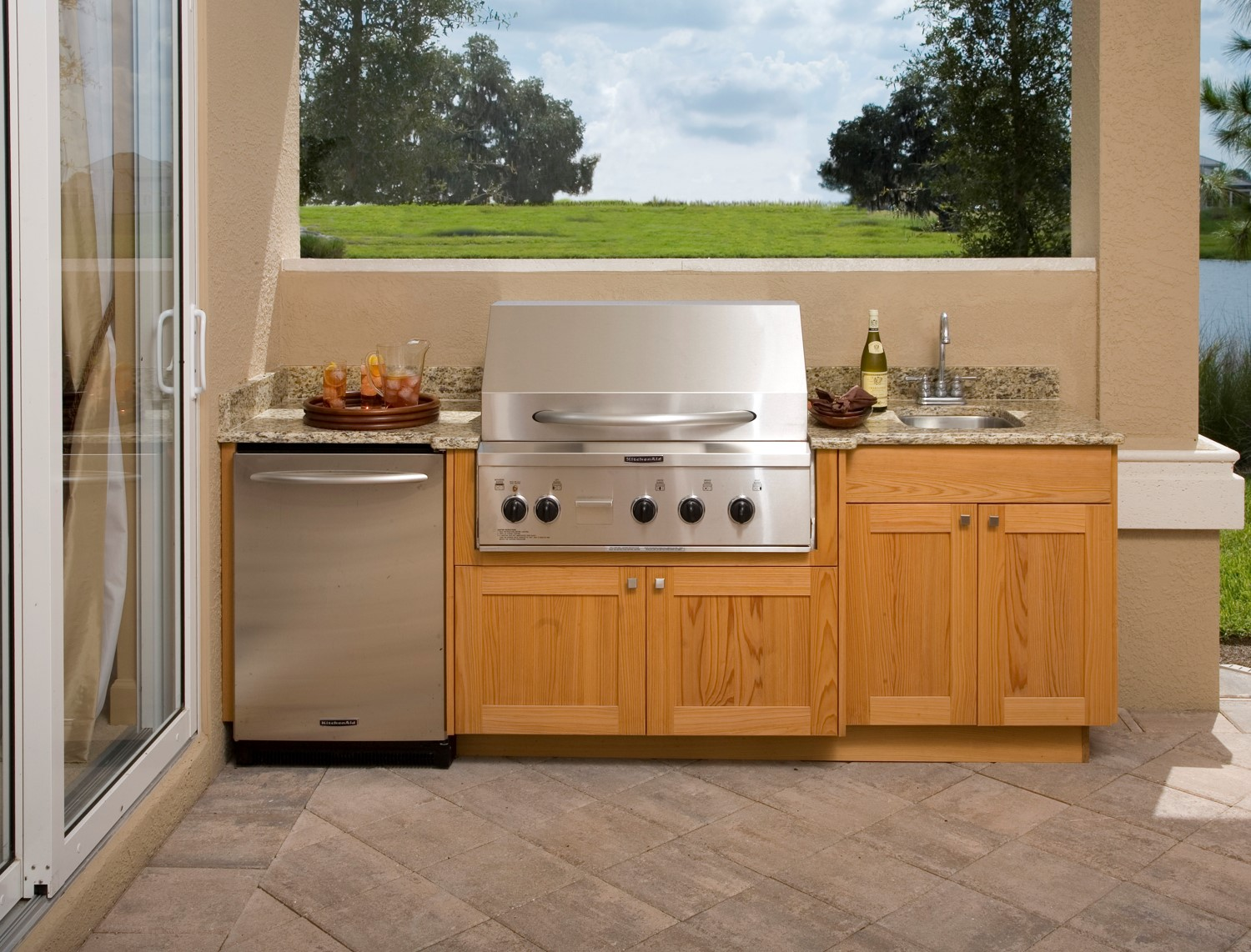 Outdoor Kitchen Cabinets The Stone Studio Inc