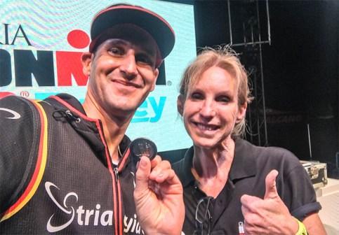 WM-Slot-Selfie mit der Legende Paula Newby-Fraser