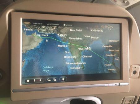 Die Flugroute nach Phuket